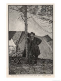 Ulysses S Grant American Civil War General at Headquarters During the Virginia Campaign Lámina giclée por H. Vetten