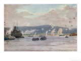 "The Scene at 5.30 A.M. on ""A"" Beach Suvla Bay Giclee Print by Norman Wilkinson"