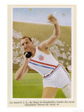 Putting the Shot: Won by Leo Sexton (Usa) with a New Olympic Record of 16.005M Giclee-trykk
