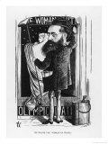 Wilkie Collins English Novelist: a Satire on His Popular Novel the Woman in White Giclee Print by F. Waddy