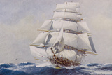 Clipper Under Full Sail Giclee Print by J. Spurling