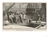 Boston Tea Party 1773 Reproduction procédé giclée