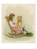 One Girl Sits on a Rocking Chair Reproduction procédé giclée par Ida Waugh