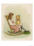 One Girl Sits on a Rocking Chair Giclee Print by Ida Waugh