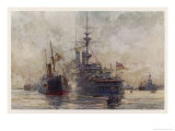 Huge Quantities of Coal are Required to Keep the World's Navies Operating Giclee Print by Norman Wilkinson