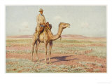 Surveyor on Camelback Reconnoitres the Route for the Trans-Continental Railway Giclée-tryk af Percy F.s. Spence