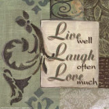 Words to Live By, Live Laugh Love Pôsters por  Smith-Haynes