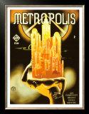『メトロポリス』の1928ヴィンテージ映画ポスター 高画質プリント