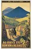 Au Pays du Bon Vin d'Alsace Giclée-tryk