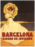 Barcelone Affiche par Frederick Daniel Hardy