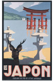 Le Japon Reproduction procédé giclée par P. Erwin Brown