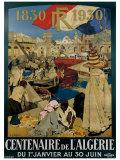 Centenaire en Algerie Giclée-tryk af Leon Cauvy