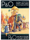 P&O Ocean Cruises Giclee Print by Dorothy Newsome