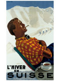 L'Hiver en Suisse Giclee Print by Erich Hermes