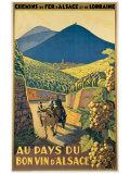 Au Pays du Bon Vin d'Alsace Reproduction procédé giclée