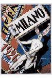 Milano Giclée-Druck von Achille Luciano Mauzan
