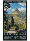 Le Puy Griou Giclée-Druck von Constant Leon Duval