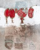 Lampions Kunstdruck von Helene Druvert