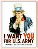 Uncle Sam I Want You Blikkskilt