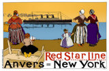Red Star Line  Anvers- New York Masterprint