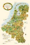 Touristen Karte von Belgium, Holland, and Luxemburg Neuheit