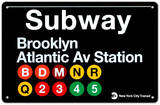 Subway Brooklyn- Atlantic Avenue Station Tin Sign