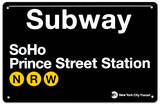 Subway SoHo- Prince Street Station Placa de lata