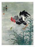 Teasing the Rooster Giclee Print by Hong Kuangyu