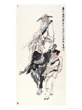 Laozi at Customs Giclee Print by Wang Kae