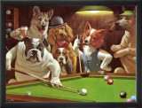 Hustler Framed Canvas Print by Arthur Sarnoff