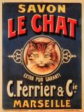 Savon le Chat Blechschild