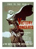 Victory Concerts at the Metropolitan Museum of Art Posters van Byron Browne