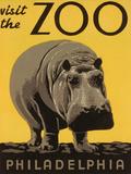 Besuchen Sie den Zoo in Philadelphia, Englisch Poster