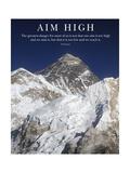Stecke dir hohe Ziele – Gipfel des Mt Everest Fotografie-Druck von  AdventureArt