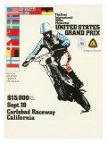 500cc Us Motocross Grand Prix Poster Impressão giclée