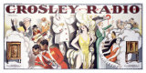 Crosley Tube Radio Poster Giclee Print