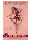 1956 New York City Ballet Poster Giclée-Druck