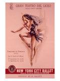 1956 New York City Ballet Poster Lámina giclée