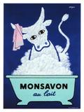 Monsavon au Lait Giclée-tryk af Raymond Savignac