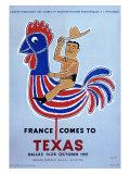 France comes to Texas, 1957 Giclée-tryk af Raymond Savignac