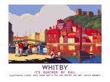 Whitby: Its Quicker by Rail Impressão giclée por  Alo (Charles-Jean Hallo)