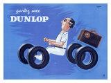 Dunlop Tires Giclée-Druck von Raymond Savignac