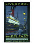 Liverpool and Belfast Giclee Print by Kenneth Shoesmith