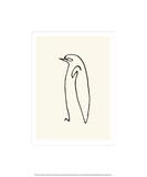Pingvinen, ca 1907|Le Pingouin, c.1907 Serigrafiprint (silkscreentryck) av Pablo Picasso