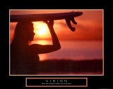 Vision: Female Surfer Poster