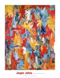 False Start, 1959 Plakat af Jasper Johns
