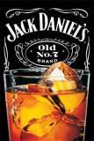 Jack Daniels On The Rocks Plakater
