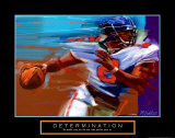 Determination: Quarterback Poster di Bill Hall