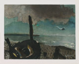 Boat on a Shore in Brittany Posters av Georges Braque