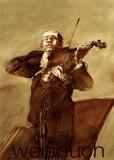 Le violoniste Affiches par Claude Weisbuch